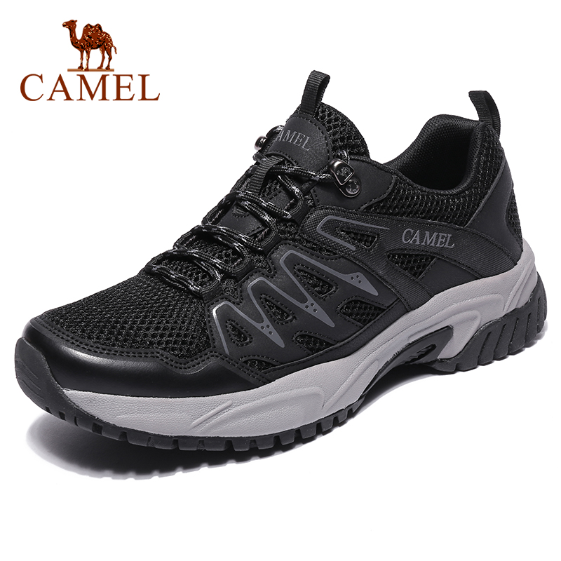 CAMEL Fashion  Casual Non-slip Sneakers  Sports Men Shoes Outdoor Breathable Lightweight Hiking  Running Jogging  Shoes