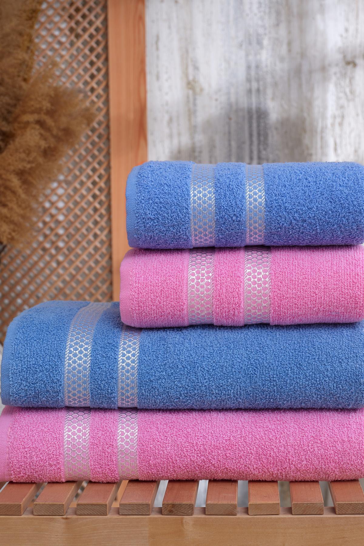 Serviette de bain 2 pièces 100 coton | pembe-mavi