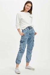 DeFacto Woman Trousers Women Trendy Denim Jeans Women's Fashion Ninth Casual Denim Bottoms Women's Pocket Jeans-R0063AZ20SP