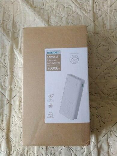 30000mAh ROMOSS Sense 8 + Power Bank Portable External Battery QC two way fast charging portable external Akku|Power Bank| |  - AliExpress