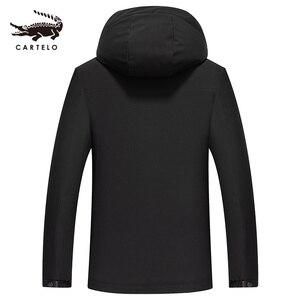 Image 2 - Homme automne hiver coton veste à capuche chaud coton veste coton sélectionné avec chapeau vêtements pour hommes 9301 Cartelo nouveau 2019