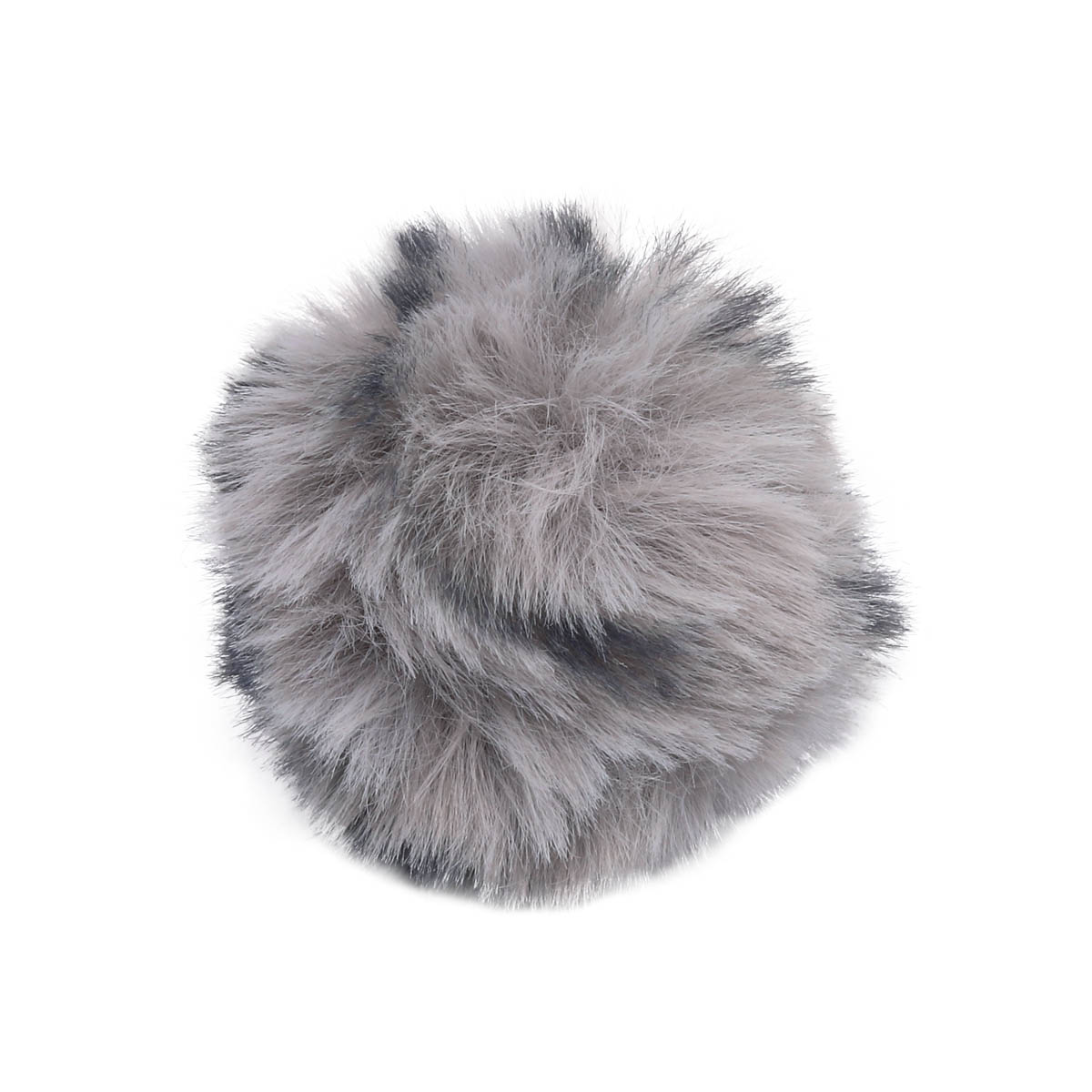 Ar528 Pompon Artificial Fur, Leopard, 5 Cm 2 Pcs/pack (gray)