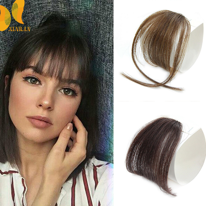 Clip In Hair Bangs Hairpiece Synthetic Fake Bangs Hair Piece Clip In Hair Extensions Blunt Bangs Clip on Bangs Black