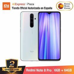 Redmi Note 8 Pro (64GB ROM z 6GB pamięci RAM  Cámara de 64 MP  Android  Nuevo  Móvil) [Teléfono Móvil Versión Global para España]