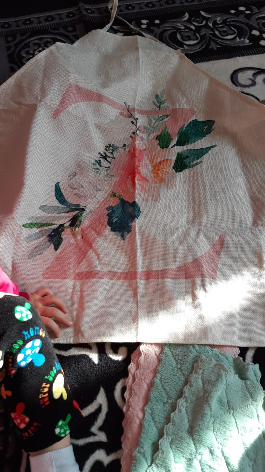 Pink Flower Alphabet Apron photo review