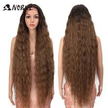 Perruque de Cosplay synthétique Ombre – Noble, perruque longue et bouclée de 42 pouces, perruque Lace Wig pour femmes noires