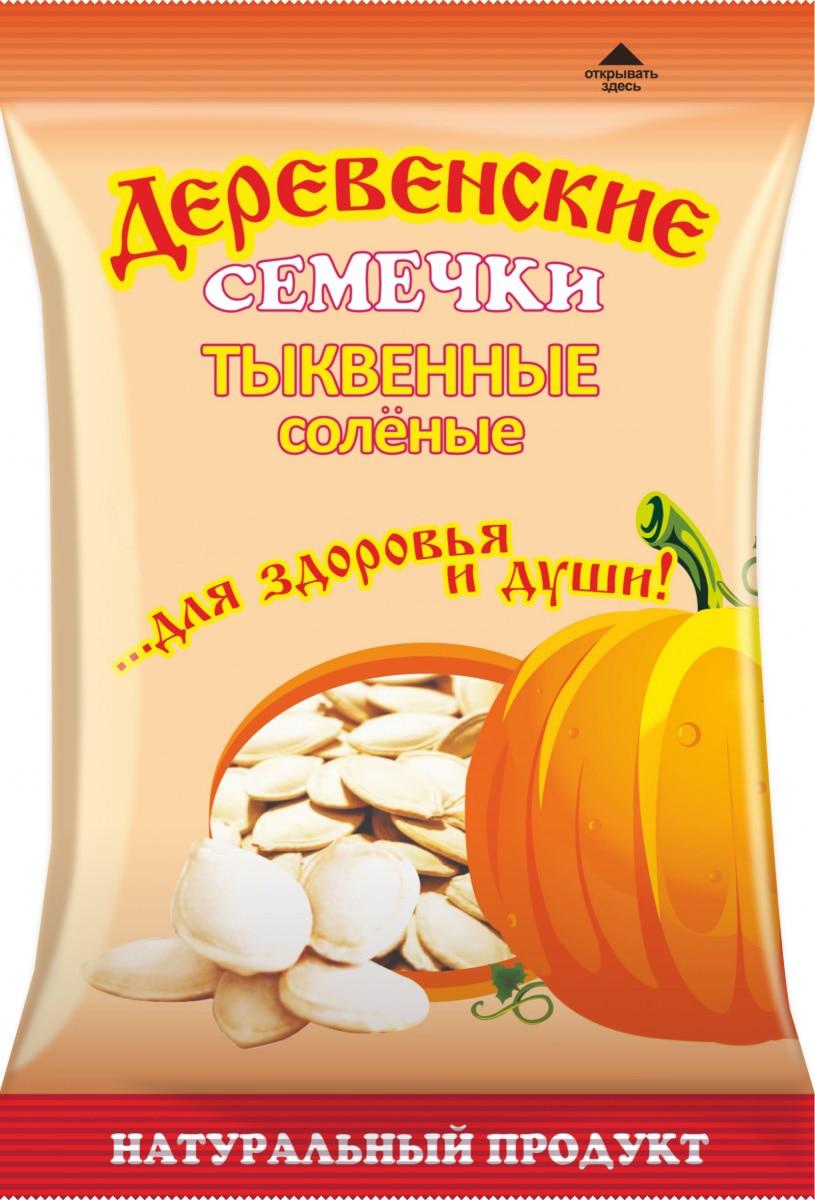 Семечки Деревенские Тыквенные соленые 60гр/26шт.
