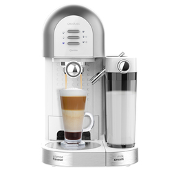 Cecotec instant Power coffee maker 20 Chic. Ground coffee and capsules, 20 bars, milk and water tank, 1470W. 700 ml