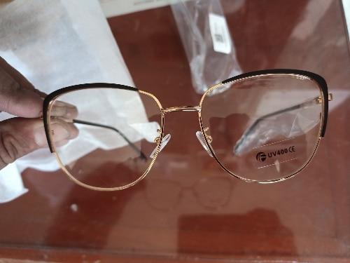 Cat Eye Retro Anti-blue Light Metal Glasses Frames for Men and Women - Optical Fashion Computer EyeGlasses photo review