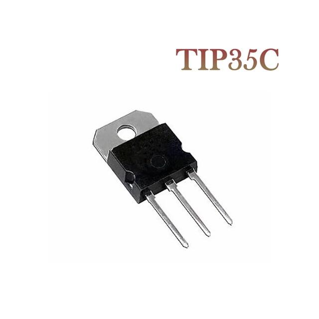 10PCS TIP35C TIP35 TO 218 Bipolar Transistors   BJT 25A 100V 125W NPN