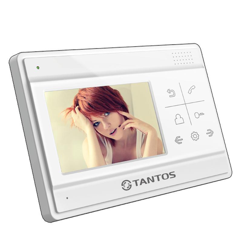 """Видеодомофон Tantos LILU SD. Экран 4"""", CVBS (PAL), MicroSD, запись фото, до 2-х вызывных панелей, до 4 мониторов, внешний БП"""