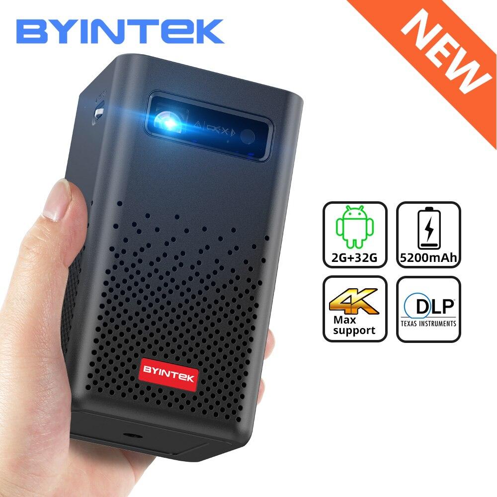 BYINTEK P20 Мини Портативный Смарт Android WIFI FULL HD 1080P ТВ Видео лазерный светодиодный DLP проектор для мобильного смартфона 3D 4K кинотеатр