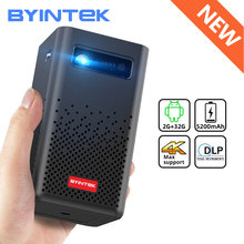 Byintek p20 mini portátil inteligente android wifi completo hd 1080p tv vídeo laser led dlp projetor para smartphone móvel 3d 4k cinema
