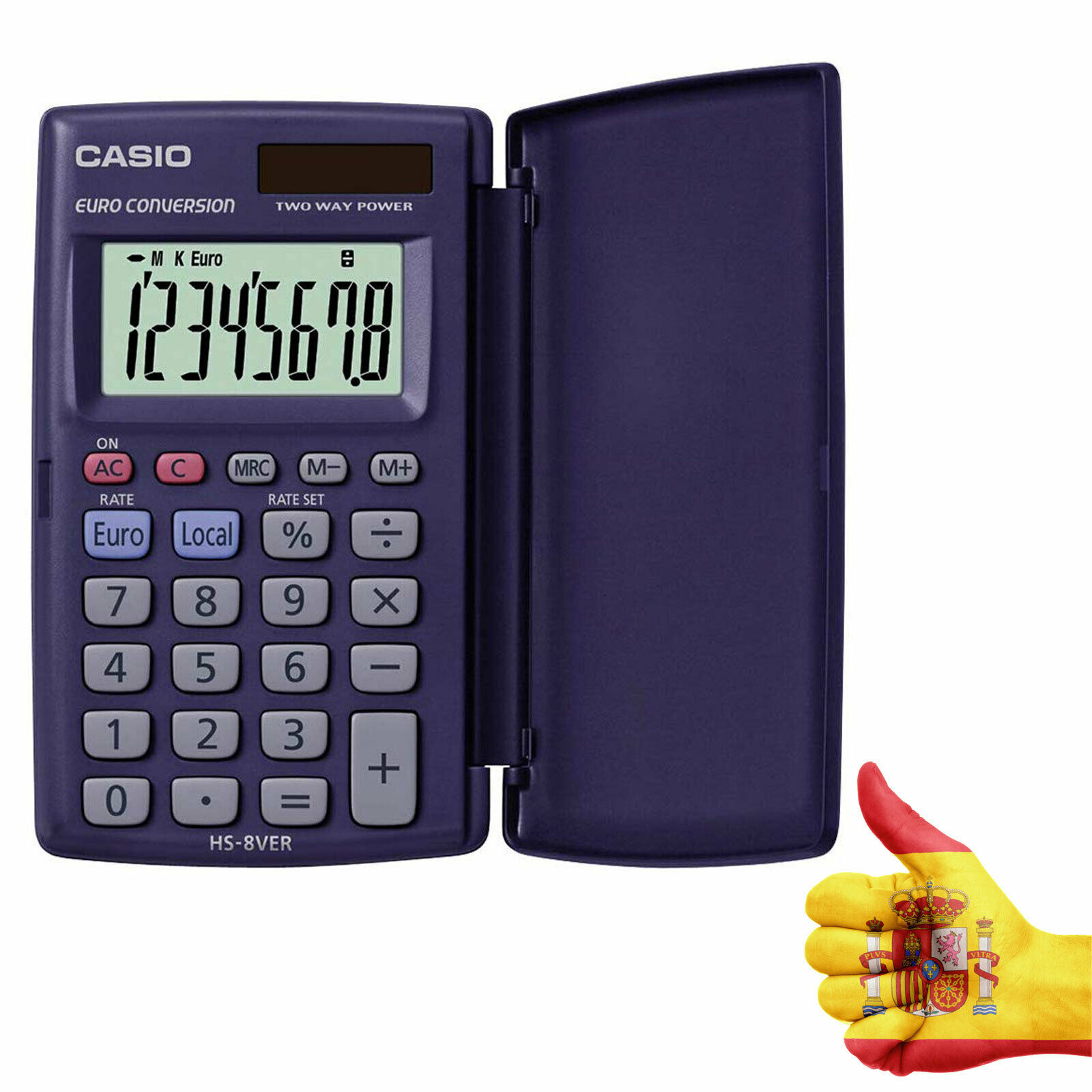 POCKET CALCULATOR 8 DIGIT CASIO HS-8VER School Student School Children