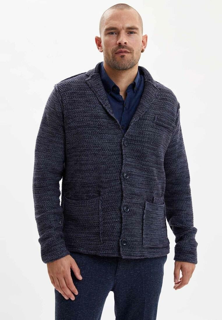 DeFacto Man Fashion Simple Lapel Pure Color Jacket Male Casual Loose Coat Men Spring Autumn New -I3235AZ18SP
