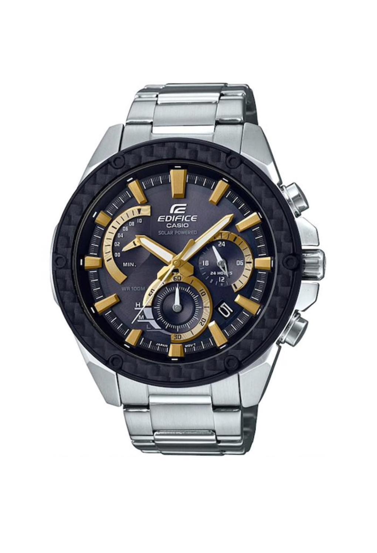 Casio Edifice Watch Solar Powered Carbon Case Mens Wrist Watch Men Watch Brand Luxury Quartz Waterproof EQS-910