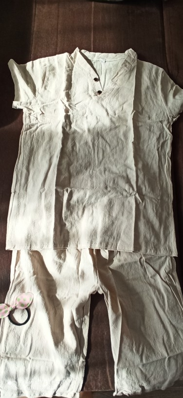 Kids Clothes Sets Short Sleeve T Shirt pant 2 Pc Suit Children Suits Fashionable Pure Cotton Linen Summer 4-12 Ages photo review