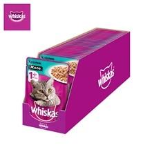 Влажный корм для кошек Whiskas желе с кроликом, 28 шт по 85г