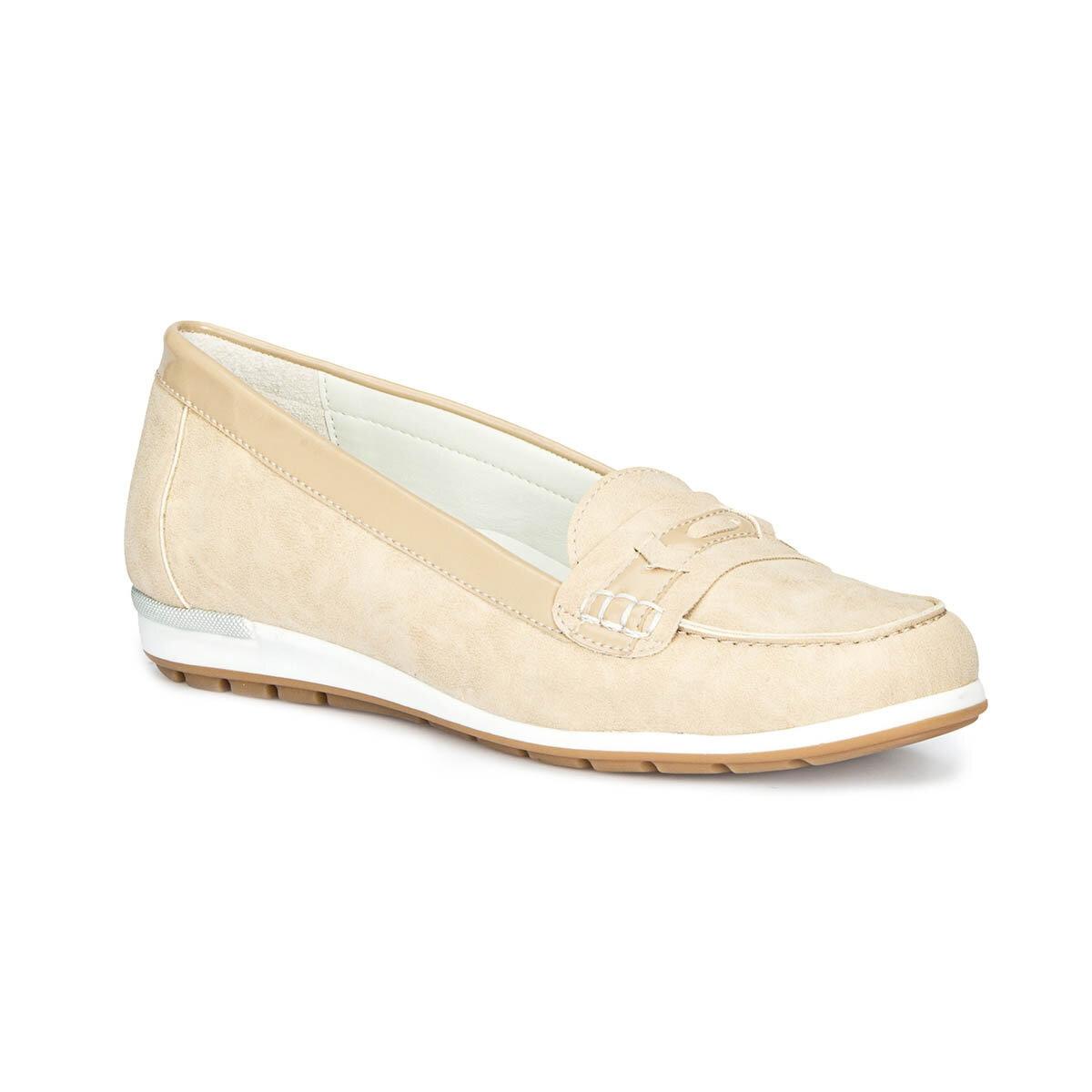 FLO 71.157239.Z Beige Women Loafer Shoes Polaris