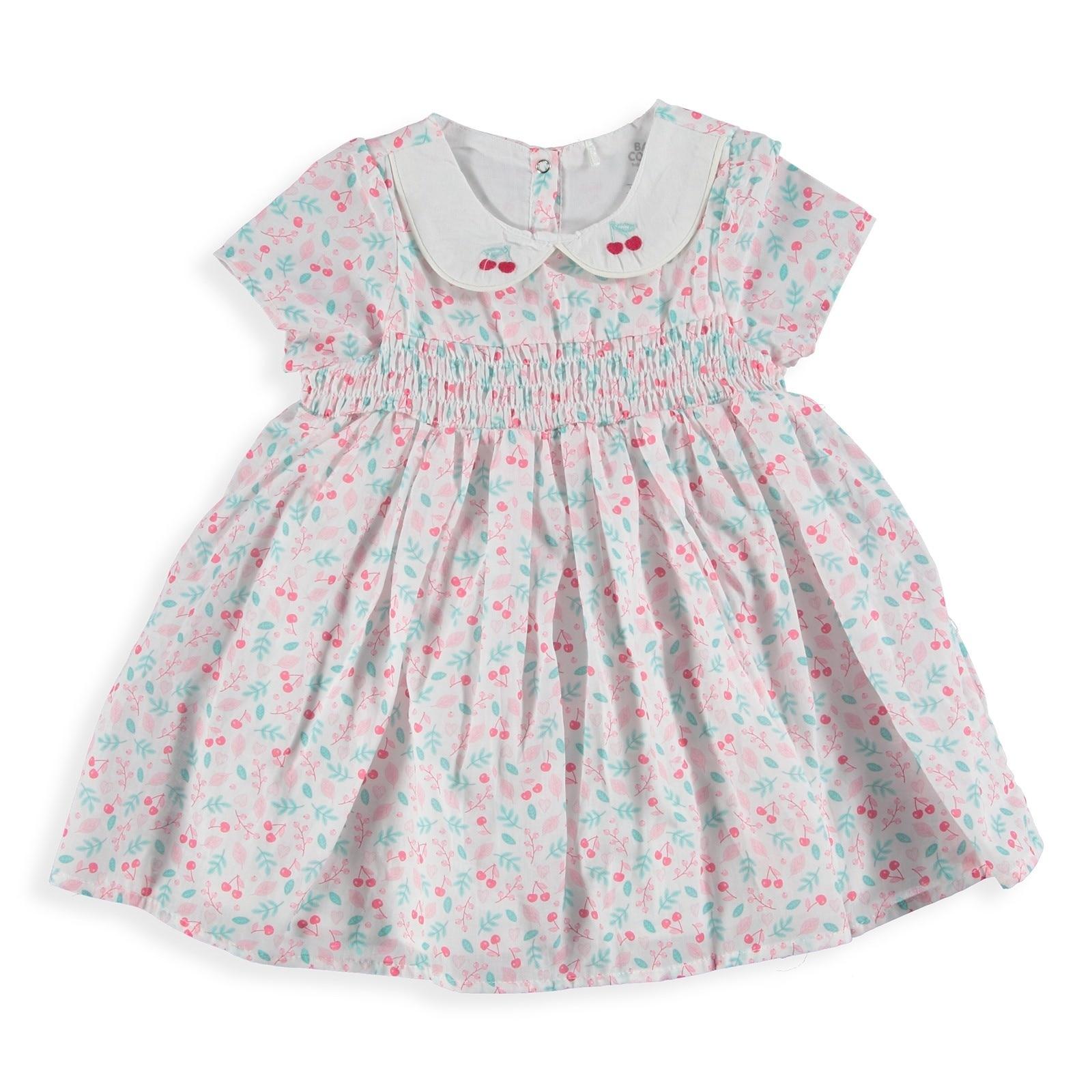 Ebebek Baby Corner Cherry Girl Petter Pan Collar Dress