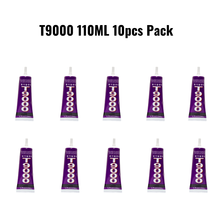 Zhanlida T9000 10 PCs Pack Clear Contact Adhesive MultiPurpose Super Strong Emiconductor Jewelry Phone Case Repair Glue - 110ML