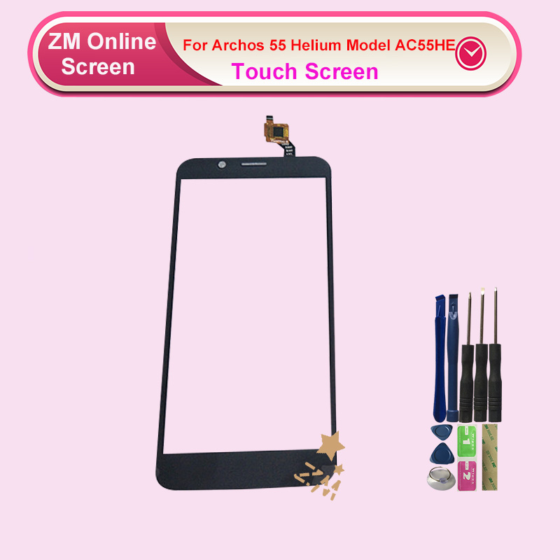 NEW Black Touch Screen Digitizer Panel Replacement For Archos 55 Helium Model AC55HE With Tools