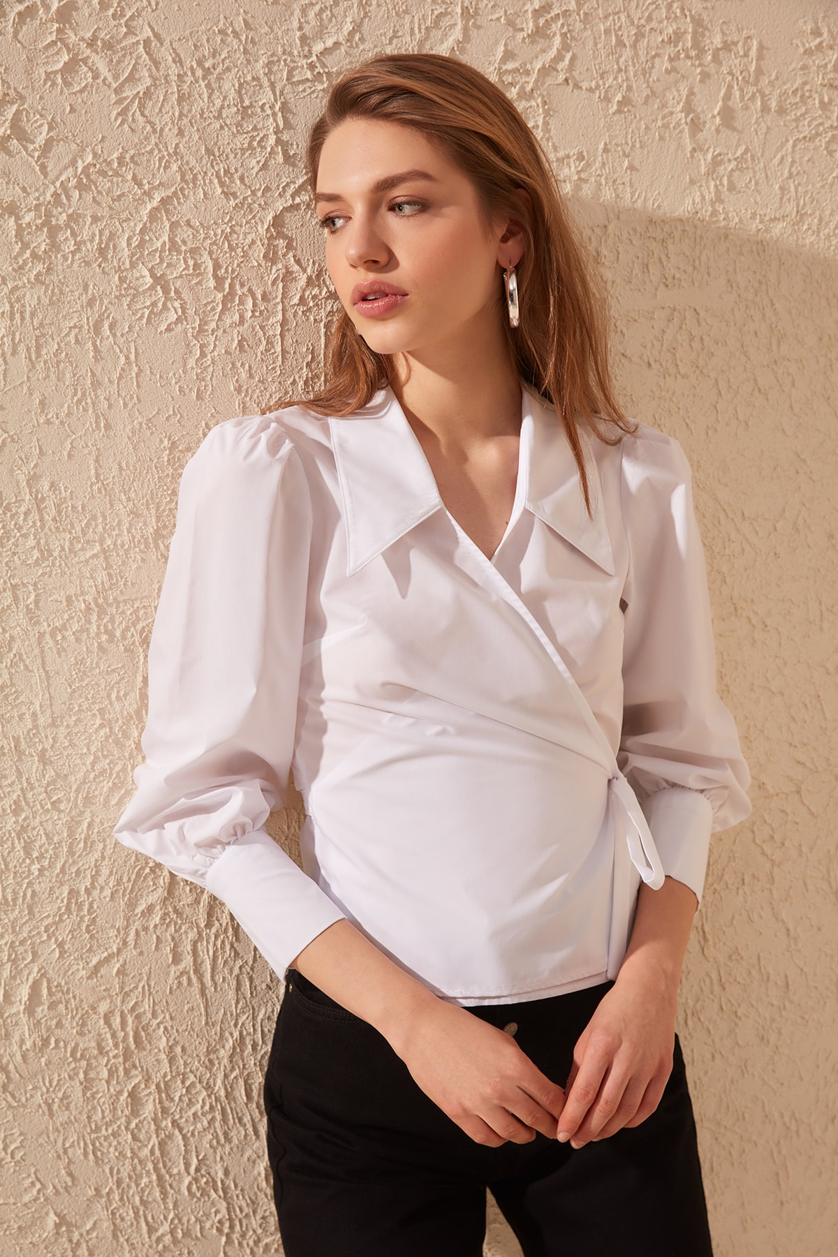 Trendyol Double Breasted Gusset Shirt TWOSS20GO0240