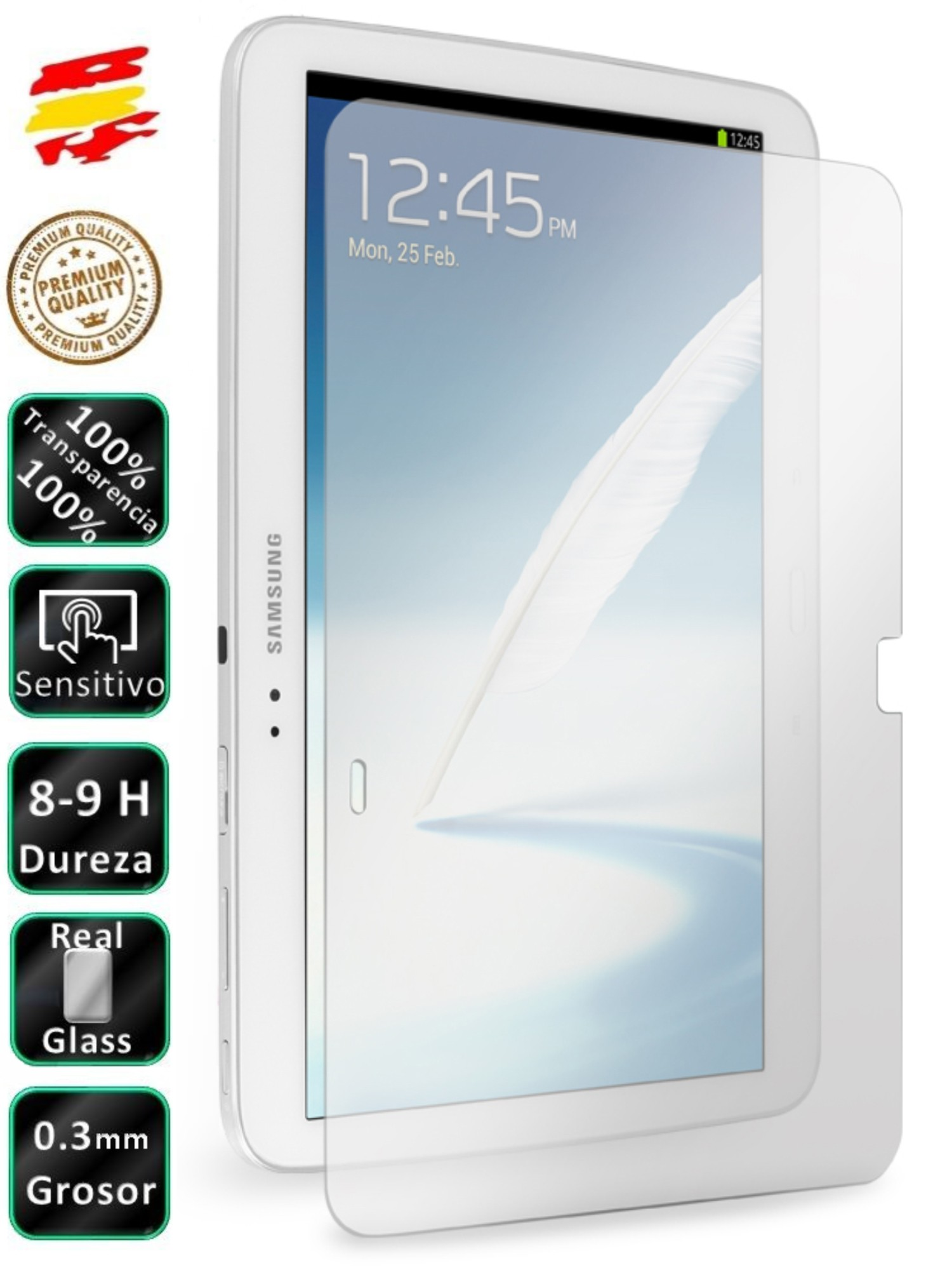 Protector Samsung Galaxy Tab 3 10.1 P5200 Tempered Glass Screen Tablet