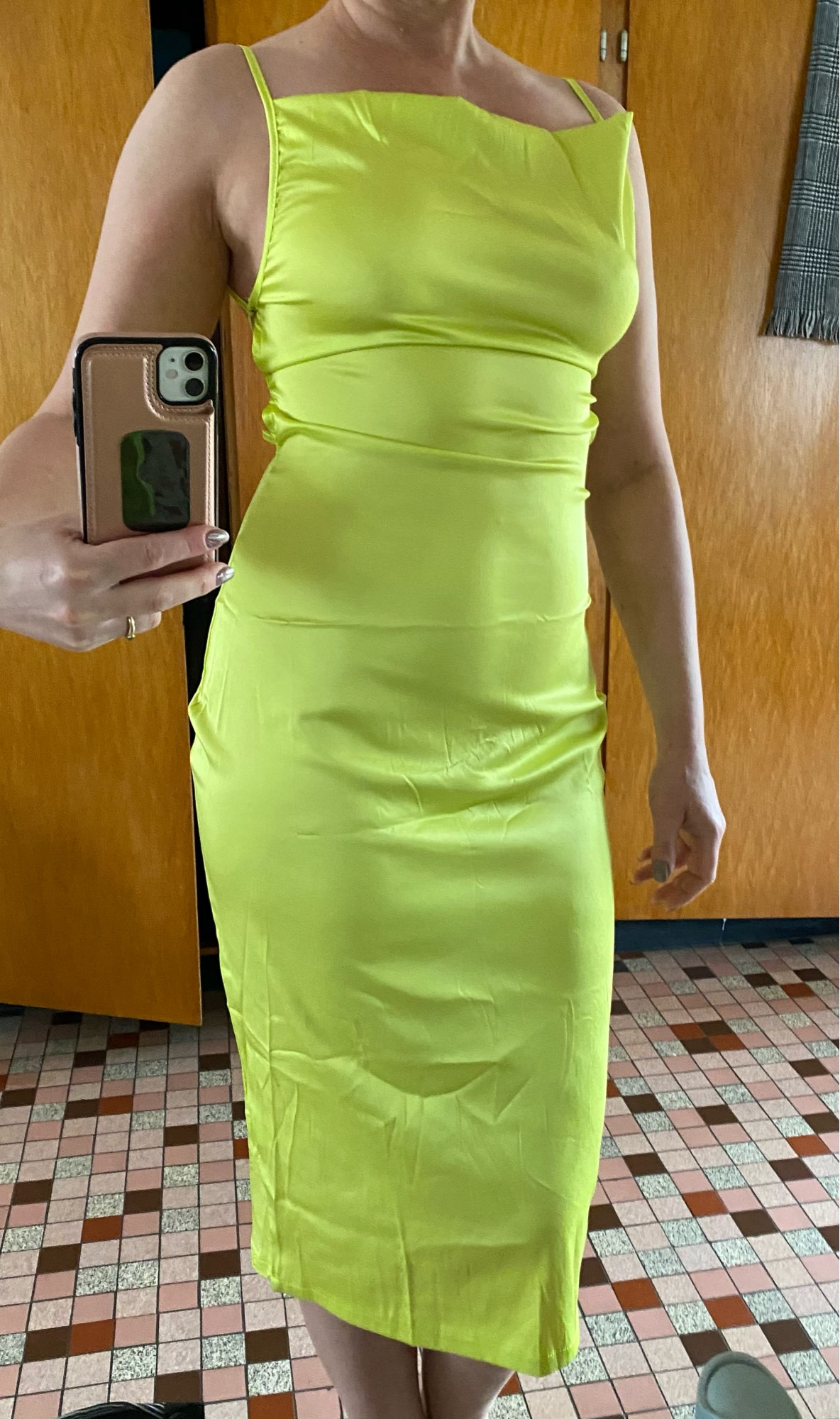 Dulzura neon satin lace up 2021 summer women bodycon long midi dress sleeveless backless elegant party outfits sexy club clothes|Dresses|   - AliExpress