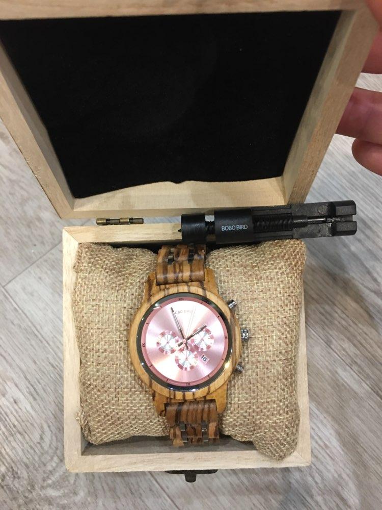 -- Relógio Presente Madeira