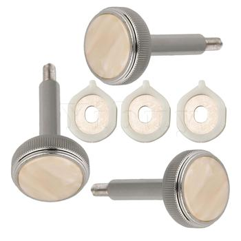 Yibuy Nickel Plated Euphonium Valve Finger Buttons and Valve Guides Pack of 3 image
