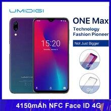 UMIDIGI ONE MAX โทรศัพท์มือถือ 4GB 128GB 6.3 นิ้ว Helio P23 OCTA Core Android 8.1 16MP + 12MP 4150mAh NFC Face ID 4G สมาร์ทโฟน