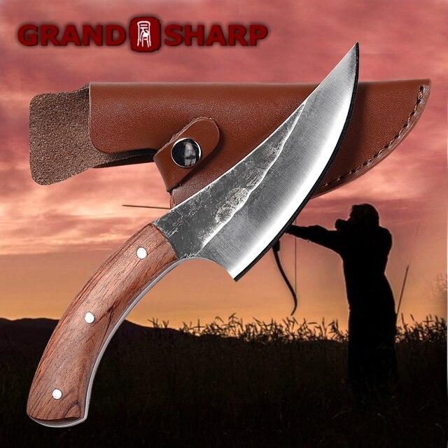 سكين نزع العظم اليدوية مزورة مطروق الشيف سكاكين المطبخ أدوات شواء جزار اللحوم الساطور أدوات التخييم في الهواء الطلق المنزل الطبخ