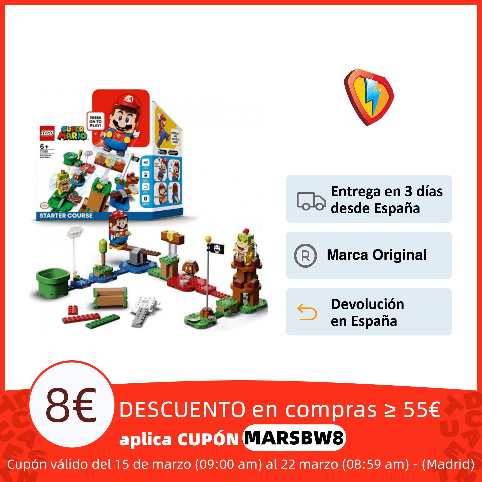 LEGO Super Mario Pack Inicial: Aventuras con Mario, juguete y regalo creativo para niños Bloques  - AliExpress