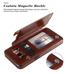 Чехол для Samsung Galaxy A51 A71 S20 Plus S9 S10 S10e с отделением для карт, кожаный чехол для Samsung Note 8 9 10 Plus
