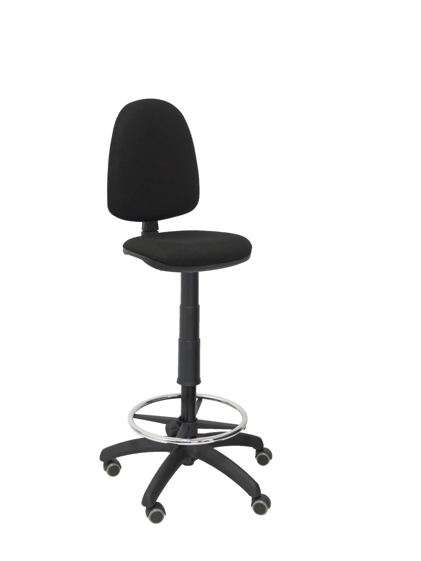 OUTLET Ergonomic Stool With Mechanism Permanent Contact, Adjustable Height, Hoop And Footrest Wheels Park