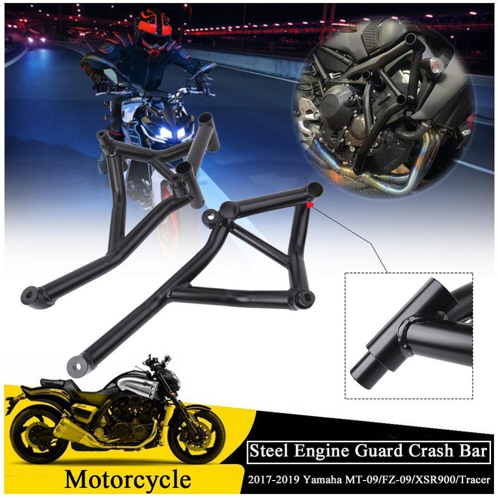 Stunt Cage Engine Guard Crash bar Bumper for 2017 2018 2019 Yamaha MT09 FZ09 MT FZ 09 MT-09 FZ-09 XSR900 XSR 900 Tracer crash bar mt 09
