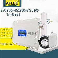 Трехдиапазонный усилитель сотовой связи b20 800 1800 2100 4g