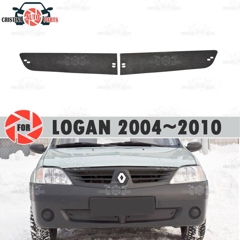 冬ラジエーターキャップルノーローガン 2004 〜 2010 プラスチック ABS エンボス加工カバーフロントバンパー車スタイリングアクセサリー装飾