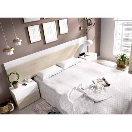 Set Headboard + 2 Side Tables With Two Drawers Alice