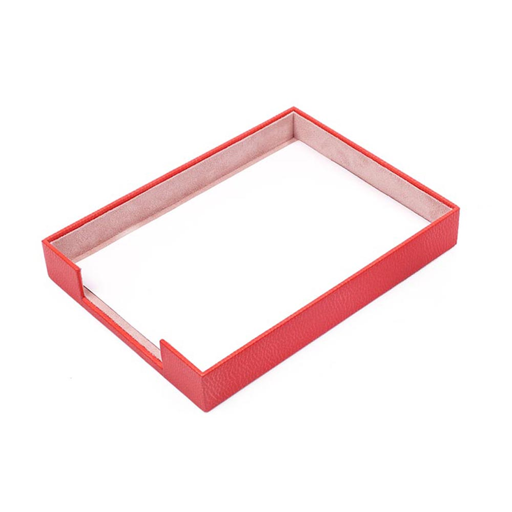 Plateau de documents en cuir simple pour ensembles de bureau (organisateur de bureau accessoires de bureau accessoires de bureau fournitures de bureau organisateur de bureau)