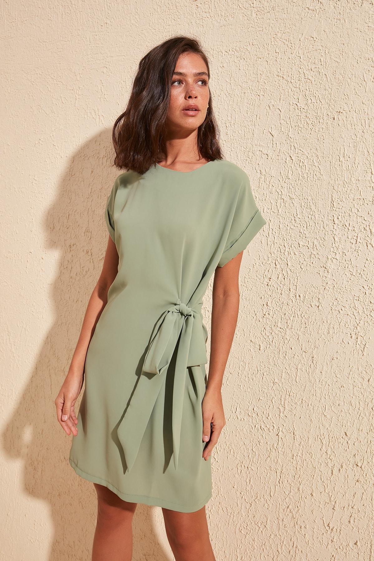 Trendyol Lacing Detail Dress TWOSS20EL1084