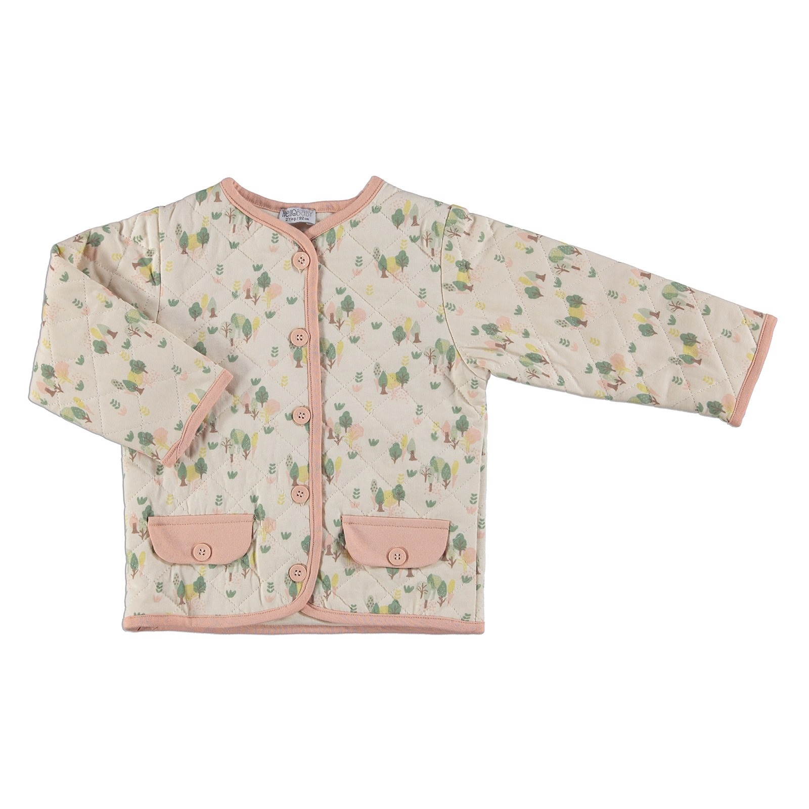 Ebebek HelloBaby Winter Soft Forest Theme Baby Jacket