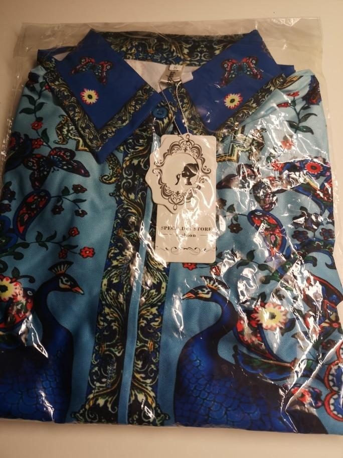 Luxury Print Vintage Long Sleeve Shirt Women Blouses Runway Designer Tops Ladies Office Shirts Blusas Mujer De Moda photo review
