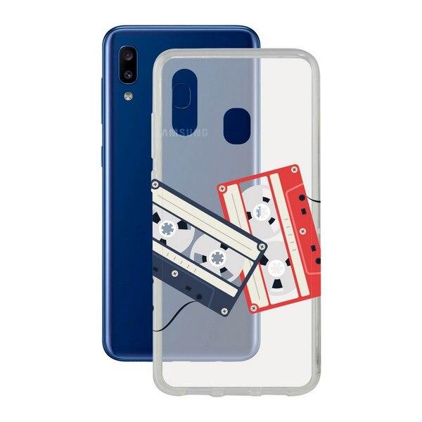 Mobile cover Samsung Galaxy A20 KSIX Flex Cassettes TPU Transparent|  - title=