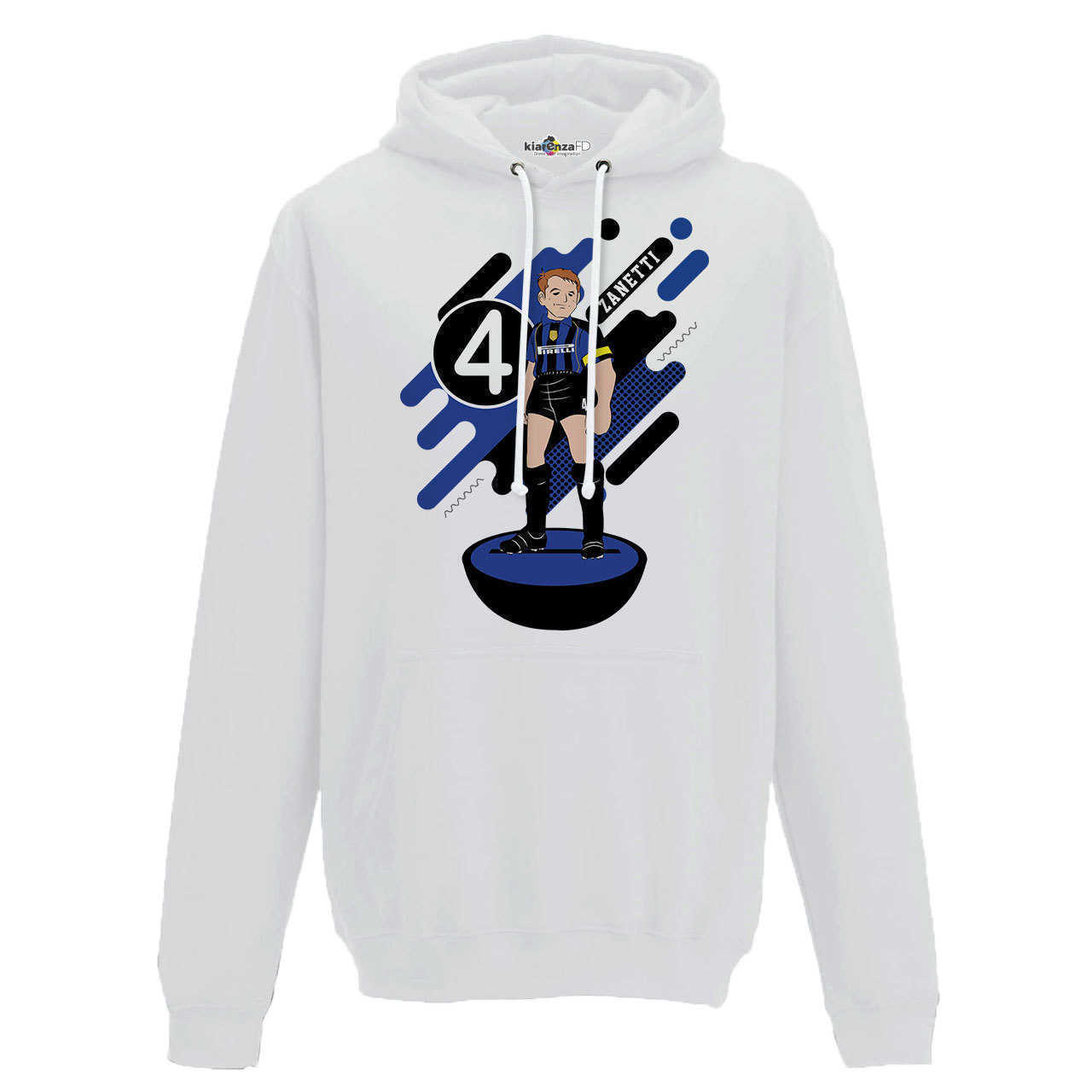 Hood Sweatshirt <font><b>Soccer</b></font> Manga Zanetti <font><b>Inter</b></font> <font><b>Milan</b></font> Legend Spoof Subbuteo Holly and Benji S image