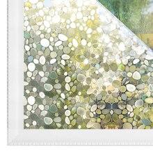 3D No Glue Static Cling Glass film decorative sticker Pebble Privacy Decal Window PVC 1.5x6.5Ft 45x200cm Rabbitgoo
