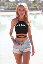 Moda 3D drukowane damskie Sexy Casual Camisole letnia koszulka bez rękawów koszule koszulka z wiązaniem na szyi bez rękawów