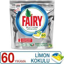 Fairy platinum 60 lava-louças detergente cápsula limão scented