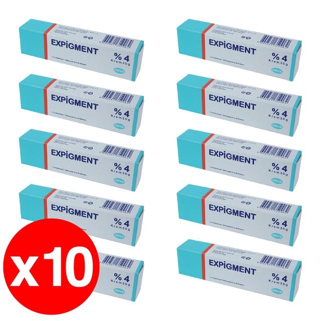 Expigment 30g 1oz Hydroquinone 4% Cream For Skin Bleaching Skin Lightening Whitening Skin Melasma Treatment - 10 pack